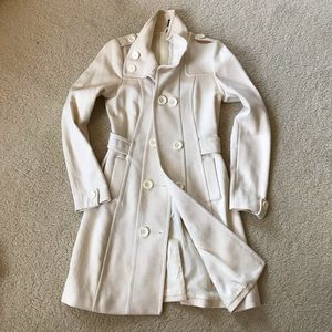 Divided by H&M Women's Cream Peacoat Sz 4